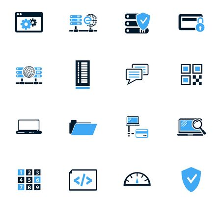 laptop icon: Internet, server, network icon set for web sites and user interface