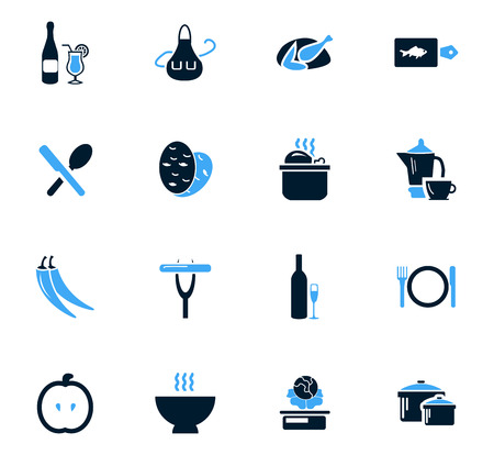 continental food: Food and kitchen symbol for web icons