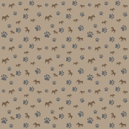 nuisance: Animals pattern simple seamless vector pattern, vector background Illustration