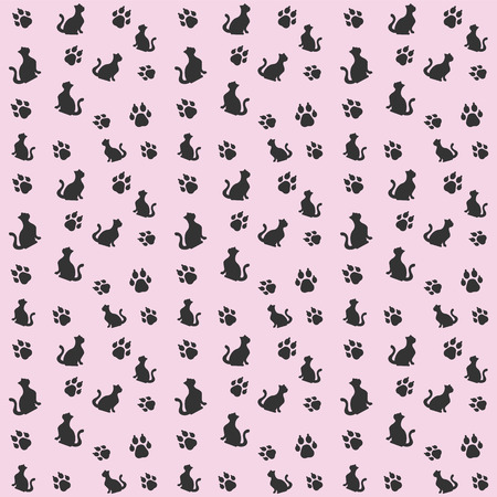 bullhead: Animals pattern simple seamless vector pattern, vector background Illustration