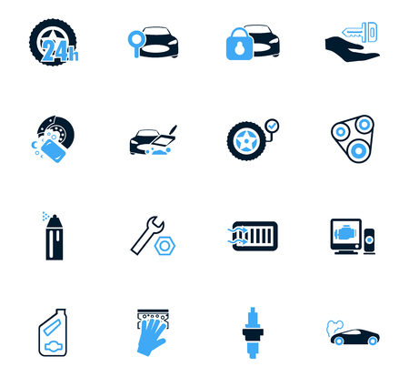 car engine: Car shop icon set for web sites and user interface