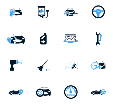 unoccupied: Car shop icon set for web sites and user interface