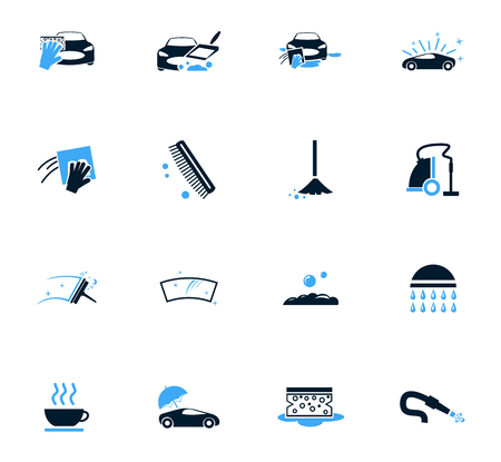 Car wash icon set for web sites and user interface