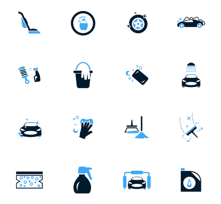 car wash: Car wash  icon set for web sites and user interface Illustration