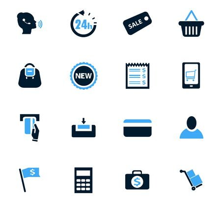 internet terminal: E-commerce icon set for web sites and user interface