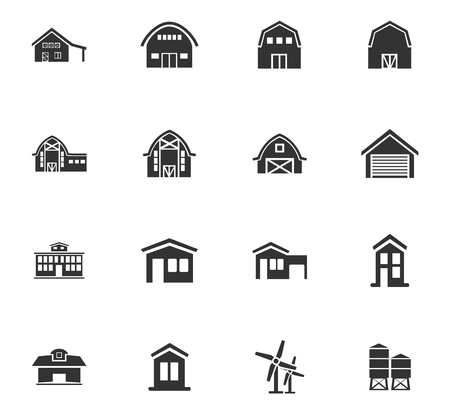 farm building: farm building icon set for web sites and user interface