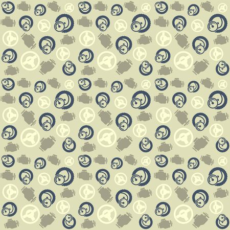 vulcanization: Car service pattern simple seamless vector pattern, vector background Illustration