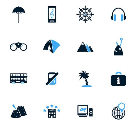 date palm: Travel icon set for web sites and user interface