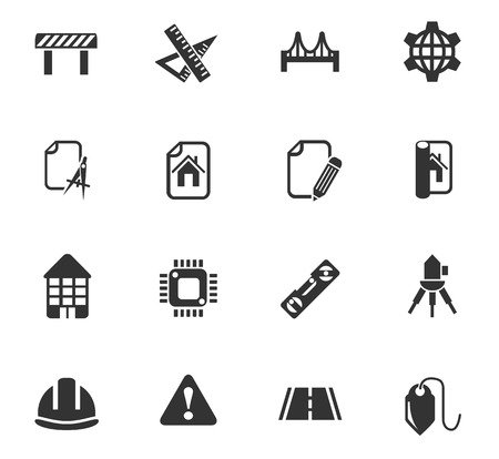 engineering design: engineering web icons for user interface design Illustration