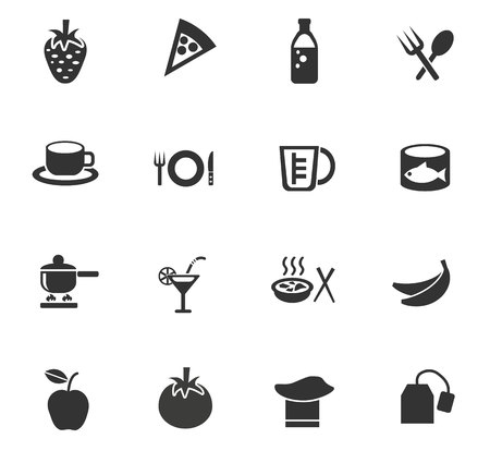 tea basket: food and kitchen web icons for user interface design Illustration