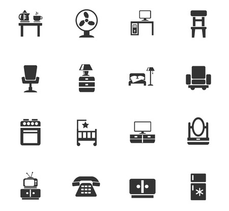 chest wall: furniture web icons for user interface design