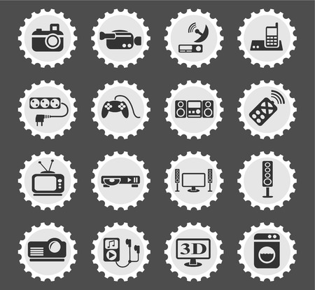 dvd player: home appliances web icons for user interface design