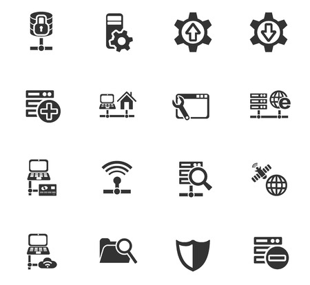 raid: server web icons for user interface design