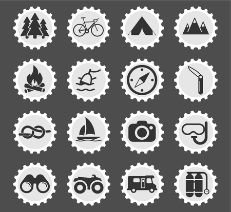 recreation: Active recreation simply icons for web and user interface