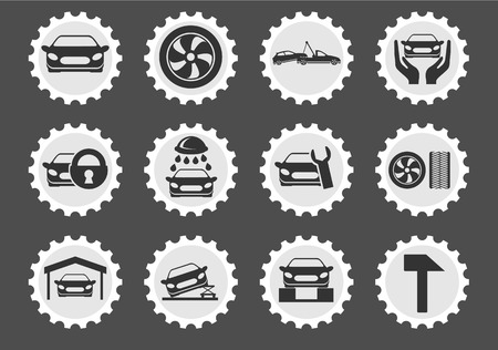 disk break: car services simply symbol for web icons and user interface