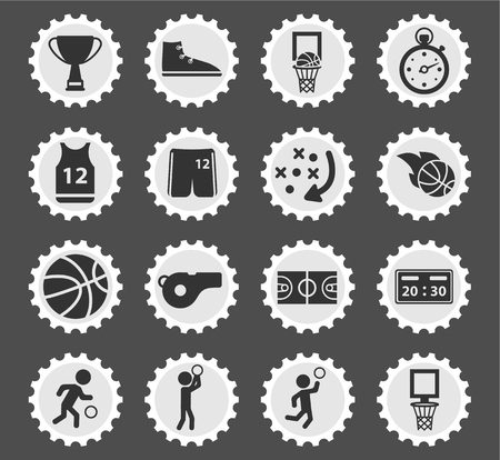 slam dunk: Basketball simply symbol for web icons and user interface