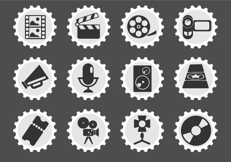 film industry: Film Industry  simply symbols for web and user interface