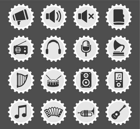 disk jockey: Music  simply symbols for web and user interface Illustration