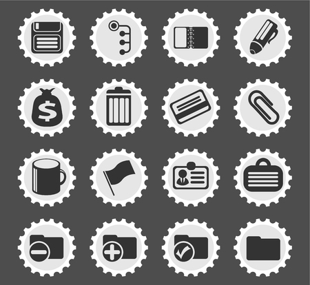 ring binder: Office  simply symbols for web and user interface Illustration