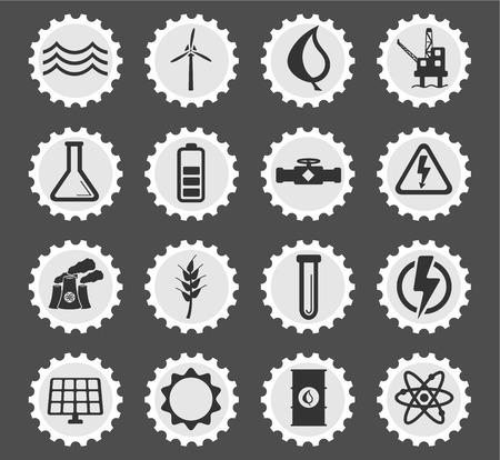 power generation: Power generation simply symbol for web icons and user interface Illustration