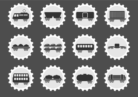 storage tank: Rail-freight traffic  simply symbols for web and user interface Illustration