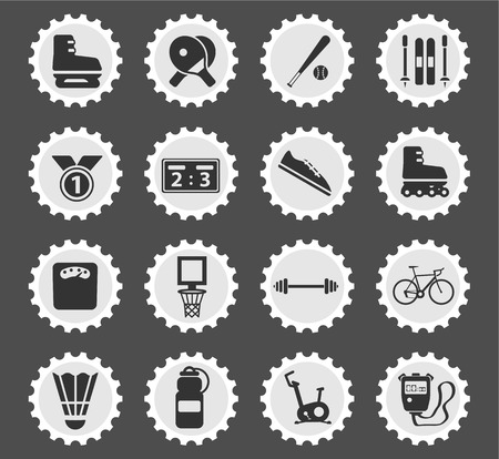 rollers: Sport simply symbol for web icons and user interface Illustration