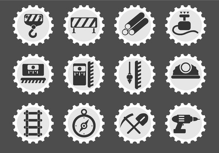 detonator: building equipment simply symbol for web icons and user interface Illustration