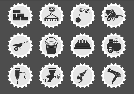electric dryer: building equipment simply symbol for web icons and user interface Illustration