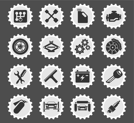 worktool: Auto Service simply symbol for web icons and user interface