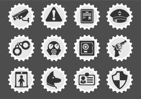 gas mask warning sign: Security simply symbols for web and user interface Illustration