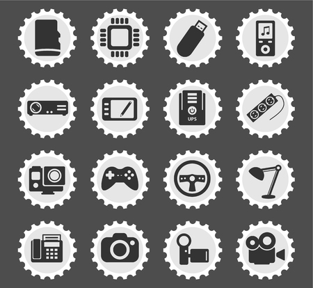 stabilizer: Devices  simply symbols for web and user interface