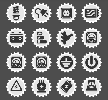transistor: Electricity simple icons for web and user interface