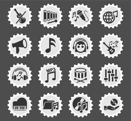 tuning fork: music web icons for user interface design