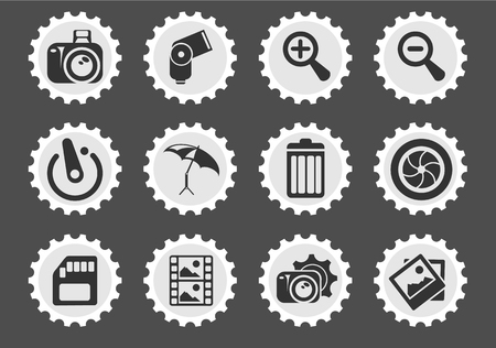 conformity: Photography Silhouette  simply symbols for web and user interface Illustration