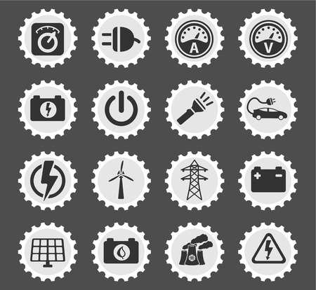 selector: Electricity simply symbol for web icons and user interface Illustration