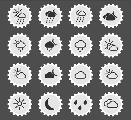 snowfalls: Weather simply icons for web and user interface Illustration