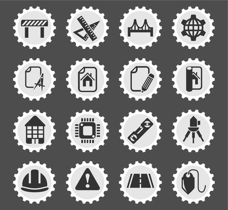 plumb: engineering web icons for user interface design Illustration