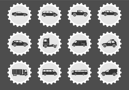 racecar: Vehicles  simply symbols for web and user interface