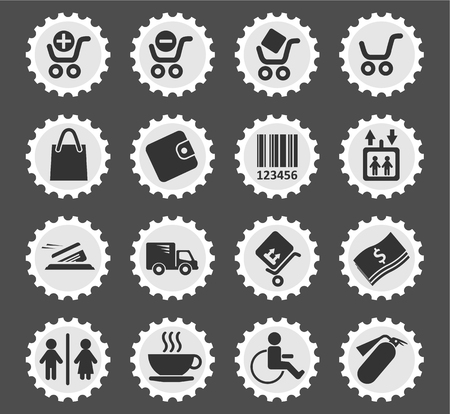 woman credit card: Shopping  simply symbols for web and user interface