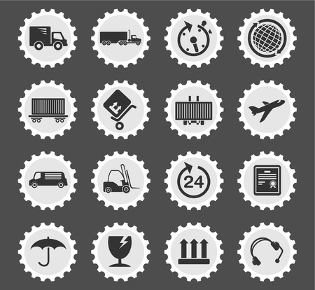 overnight delivery: Cargo shipping simply symbol for web icons and user interface