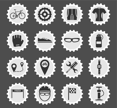 bycicle: Bycicle simply symbol for web icons and user interface