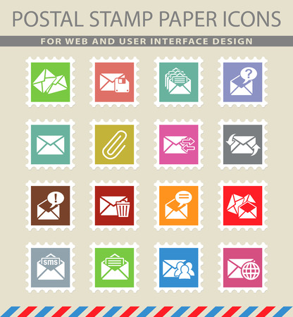select all: mail and envelope web icons for user interface design Illustration