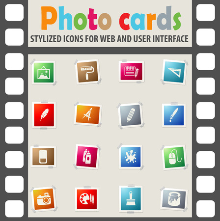 mouse pad: art tools web icons for user interface design