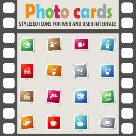 wine register: cafe web icons for user interface design Illustration