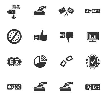 vector symbol of brexit, icon set for web Illustration