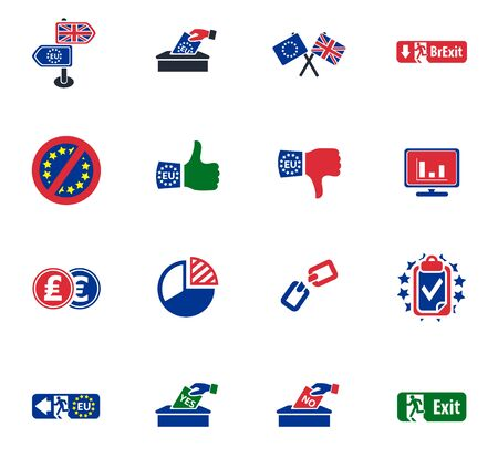great depression: Brexit British referendum concepts with EU and UK flag