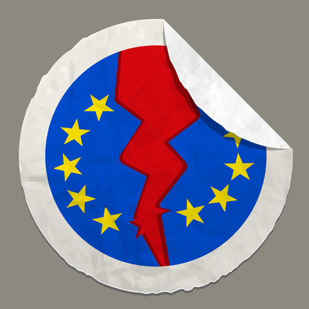 great depression: Brexit British referendum concepts symbol on a paper label