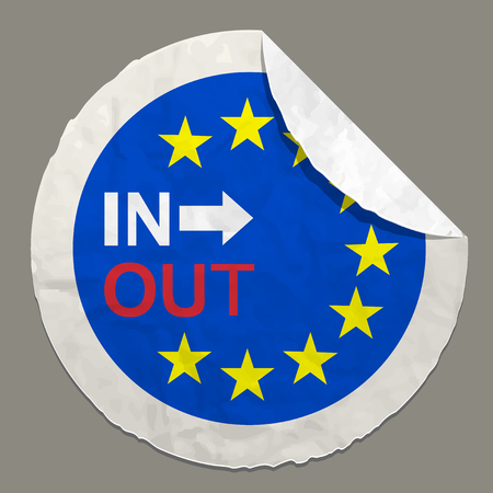 referendum: Brexit British referendum concepts symbol on a paper label