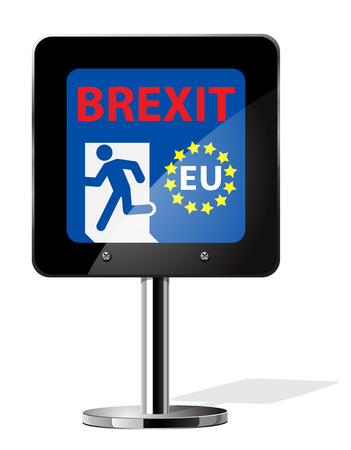 yes or no to euro: Brexit British referendum concepts symbol on sign