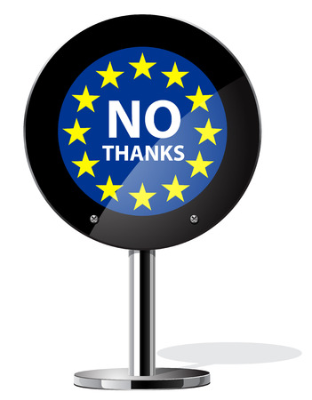 referendum: Brexit British referendum concepts symbol on sign